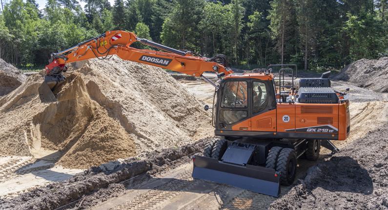 Excavadora Doosan DX210W-7 - RevSobreOru